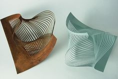 Ane Christensen, London, works in various metals, with & without patination, to produce his 'Shredded', 'Dented' & 'Negative' Series of bowls. See Blogroll for a link. | Decanted