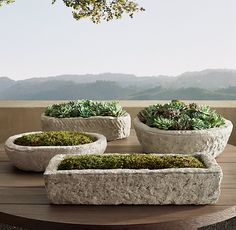 There has got to be a way to DIY these. Because they are to costly! Gascony Cast Limestone Trough Collection....There is, there is! says The Hypertufa Gardener!