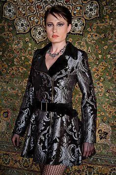 VINTAGE STYLE MOTORCYCLE JACKET by Shrine Clothing Gothic Dresses