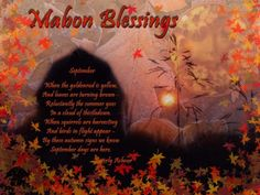Mabon, also known as the Autumn Equinox, is the time for harvest and reaping what you have sown. The Autumn Equinox is also the day when there is equal light and dark. Before this day, the h… Mabon, Samhain, Autumnal Equinox Celebration, Pagan Festivals, Vernal Equinox, Sabbats, Beltane, Book Of Shadows, Autumn Theme