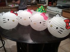 Hello Kitty paper lanterns are so cute and look easy to make.