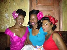 {Lovely Black Pin-ups!} Here is Angelique Noir, Ashley and April at Folly last night!