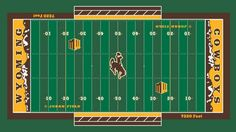 Wyoming Cowboys Unveil New Football Field Design Wyoming Cowboys Football, Football Field, College Football, Go Pokes, Silhouettes, Fields, Layout, Collections, Signs