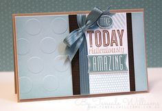 Amazing Birthday by Stampin' Up! Created By Teneale Williams - Lost Lagoon, Crumb Cake, Early Espresso, Soft Sky