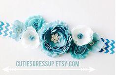 Blue flower belt , pregnancy sash , Maternaty sash , flower sash on Etsy, $38.99
