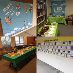 """""""UP"""" Staff Appreciation Week. Each day had another UP theme. Monday started with WAKE UP!!"""