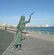 "Torrevieja on the Costa Blanca. ""La bella Lola"", so we call this statue."