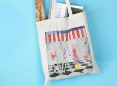 Canvas Bag  Tote Bag  Circus Bag  Gift for her