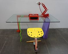 "Peter Shire ""Memphis Milano"" Desk, 1982 6"