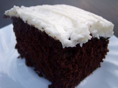 Lisa's Grandma Ruby could bake a cake like nobody's business! Try her famous chocolate cake! National Chocolate Cake Day, Tasty Chocolate Cake, Chocolate Recipes, Mug Recipes, Homemade Cake Recipes, Dessert Recipes, Lunch Recipes, Cake Frosting Recipe, Frosting Recipes