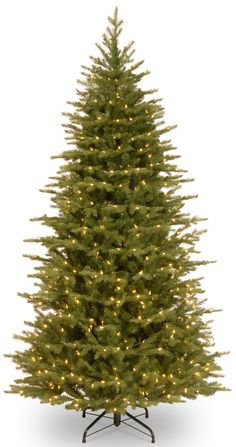 9e1322187e National Tree 7.5 Foot Feel Real Nordic Spruce Slim Tree with 750 Clear  Lights Hinged PENS132175