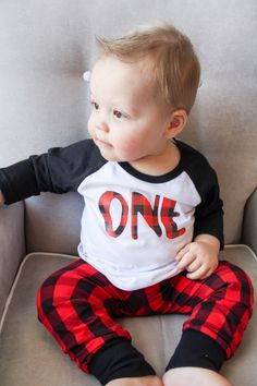 lumberjack birthday, lumberjack first birthday, buffalo plaid party, ONE, toddler boy, baby boy, plaid birthday shirt, birthday outfit by Our5loves on Etsy https://www.etsy.com/listing/257637739/lumberjack-birthday-lumberjack-first