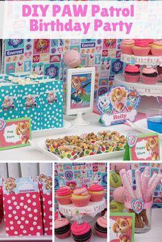 PAW Patrol dessert table / Skye Birthday Party  great diy ideas
