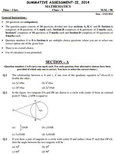 Solved Sample Papers for Class   Science SA    Set B