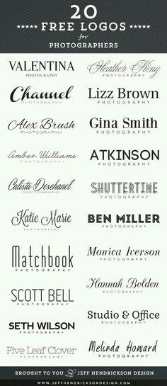 Fonts & Logo's