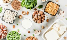 Think you can't get enough protein on a vegan diet? These vegan protein sources will make you forget about meat. Some plant-based proteins include . Best Vegan Protein Sources, High Protein Vegetarian Recipes, Protein Rich Foods, Best Protein, Vegan Foods, Healthy Foods To Eat, Healthy Snacks, Vegan Recipes, Healthy Tips
