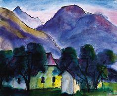 Werner Berg Häuser unterm Berg 1947