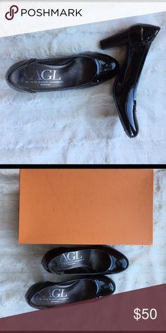 AGL Black Patent Pumps Super comfortable. Barely worn. Excellent condition. Attilio Giusti Leombrubi (AGL) Shoes Heels
