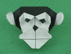 Origami Chimpanzee mask by Quentin Trollip folded by Gilad Aharoni Origami Monkey, Teach Like A Pirate, Lion King Costume, Lion King Jr, Diy And Crafts, Paper Crafts, Book Show, Paper Folding, Primates