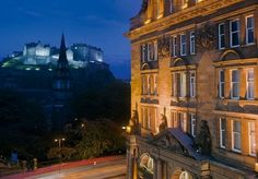 An elegant two-night break at an iconic five-star Edinburgh hotel, with breakfast and First Class train travel