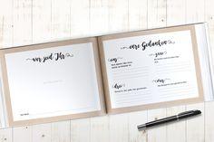 """**Gästebuch mit Fragen** - Modell _""""Blush Weddinge"""" - beige/rosa_ Das Design dieses Buches setzt auf den Blush Wedding-Trend der im kommenden Jahr auf so vielen Hochzeiten und Feiern zu sehen..."""