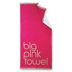 "Bloomingdale's ""Big Pink"" Beach Towel 