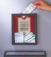 LOVE this idea! I have saved every movie ticket from every single movie Tony and I have ever gone and saw!