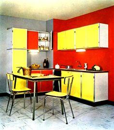 cuisine ralise avec le revtement glasal style formica en 1965 - Formica Cuisine