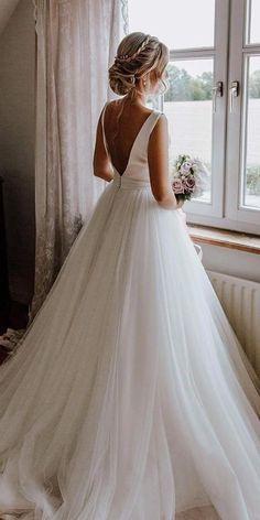 30 Simple Wedding Dresses For Elegant Brides ❤  simple wedding dresses ball gown v back rosa clara #weddingforward #wedding #bride