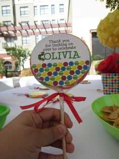 The Very Hungry Caterpillar Baby Shower Favor
