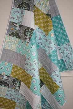 Cot Quilt - Friends of the Forest Patchwork - by evergreenbaby on madeit