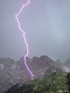 Lightning Strikes : Weminuche Wilderness, Colorado