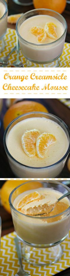 Orange Creamsicle Cheesecake Mousse is a simple and easy recipe using jello, whipped topping and oranges. Creamy and smooth and so perfect for summer!