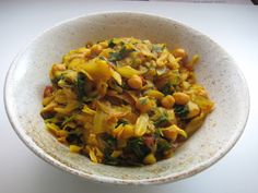 Cabbage Chickpea Curry