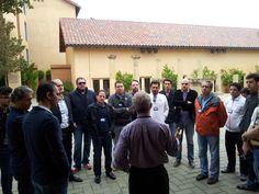 Nosso grupo recebendo uma geral sobre Stanford. Fomos muito bem recebidos.