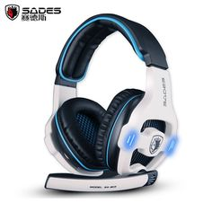 Best Gaming Headset Sades SA-903 casque 7.1 Surround Sound Channel USB Wired Headphone with Mic Volume Control for PC Game Gamer