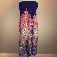 "Spotted while shopping on Poshmark: ""Angie Navy Blue Printed Maxi Dress""! #poshmark #fashion #shopping #style #Angie #Dresses & Skirts"