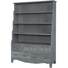 Manor Bookcase in Gray | Guildmaster | Home Gallery Stores