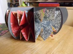 So the bookmaking group I am on (pretty darn nearly the only thing that ever drives me to log in to Facebook) had a challenge for a Turkish Map Fold book. You may recall I reposted quite an old PD…
