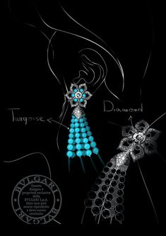 Jewelry Design Drawing, Jewelry Illustration, Jewellery Sketches, Baroque Fashion, Sketch Design, High Jewelry, Jewelry Patterns, Bvlgari, Designs To Draw