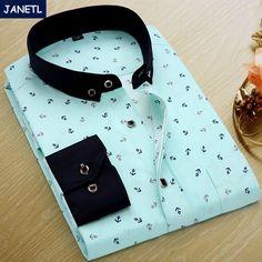 Marca de Impresión Camisa de Los Hombres Camisa de manga Larga Slim Fit Camisas Casuales hombres de la Moda de Ropa Casual Camisa Masculina Floral Camisa de vestir