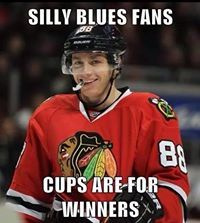 Kaner Smile after we BEAT the Blues in the Playoffs.