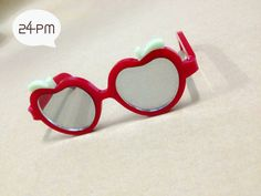 Apple Red Sunglasse  Blythe Doll by 24PM on Etsy, ฿415.34