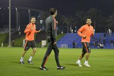 Supercoppa italiana, la Juventus in allenamento a Doha