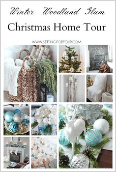 Welcome to my Christmas home tour! I've decorated my home with Winter Woodland Glam style - come see all of my DIY holiday decorating ideas and tips! www.settingforfour.com