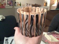 Zebra candle holder