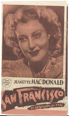 SAN FRANCISCO PROGRAMA DOBLE MGM CLARK GABLE JEANETTE MACDONALD SPENCER TRACY…
