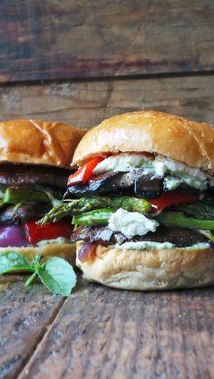 Grilled Goddess Portobello Burgers
