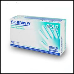 Adenna Gold Latex Exam Gloves (PF Powder Free) Case