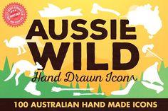 Aussie Wild Hand Drawn Icons by Jeremy Mura on @creativemarket - FREE until 02/19/2017.